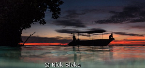 Sunset in Misool, Raja Ampat, Indonesia. by Nick Blake